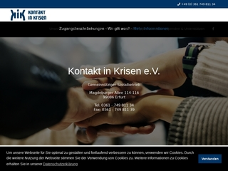 Vorschaubild der Webseite von Kontakt in Krisen e. V. (KiK)