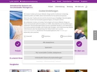 Vorschaubild der Webseite von Schutzbund der Senioren und Vorruheständler Thüringen e. V.