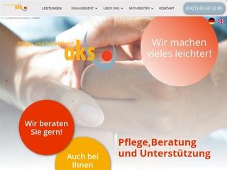 Vorschaubild der Webseite von aks Pflegedienst GmbH