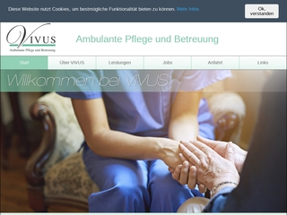 Vorschaubild der Webseite von VIVUS ambulante Pflege und Betreuung