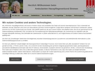 Vorschaubild der Webseite von Ambulanter Hauspflegeverbund Bremen-Ost (AHB)