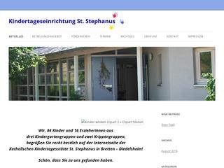 Vorschaubild der Webseite von Kath. Kindergarten St. Stephanus