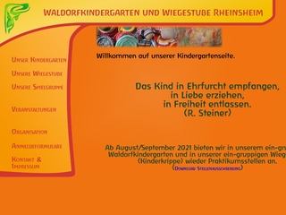 Vorschaubild der Webseite Waldorfkindergarten Rheinsheim