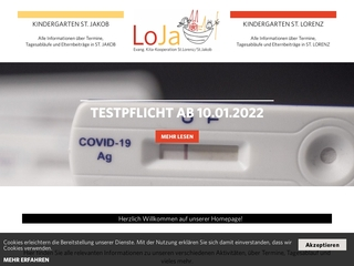 Vorschaubild der Webseite von Kindergarten St. Lorenz