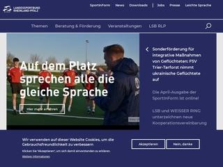 Vorschaubild der Webseite von Landessportbund Rheinland-Pfalz