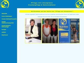 Vorschaubild der Webseite von Krankenpflege und Seniorenpflegedienst GbR - Pflege mit Akzeptanz