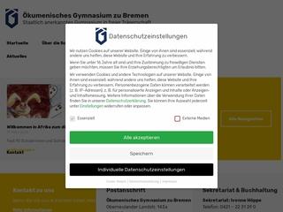 Vorschaubild der Webseite von Ökumenisches Gymnasium zu Bremen