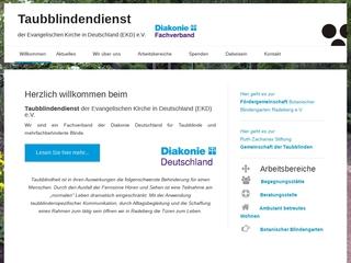Vorschaubild der Webseite von Taubblindendienst e.V. Storchennest