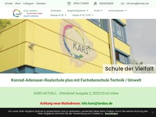 Vorschaubild der Webseite von Realschule Plus mit Fachoberstufe Landau Konrad-Adenauer