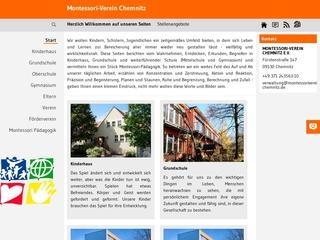Vorschaubild der Webseite von Montessori-Schule Chemnitz - Freie integrative Mittelschule