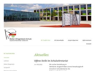 Vorschaubild der Webseite von Realschule Walther Klingenbeck