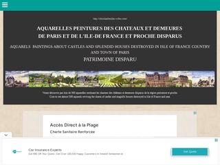 Aquarelles des châteaux et demeures disparus de Paris et de l'Ile de France
