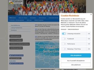 Vorschaubild der Webseite Werkstatt für Behinderte der Lebenshilfe Bernburg