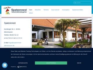 Vorschaubild der Webseite Gemeindekindergarten Spatzennest