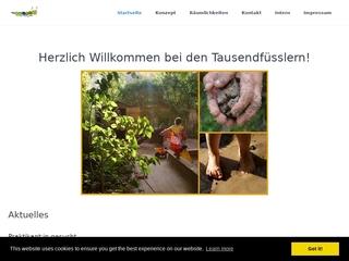 Vorschaubild der Webseite von Eltern-Initiativ-Kindertagesstätte Tausendfüßler