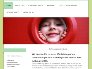 Vorschaubild der Webseite Kindertagesstätte Schneckenhaus e.V.