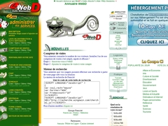 WebD - Outils webmasters professionnels - Forum, Chat, sondage, livre d'or, auto répondeur, mailing list