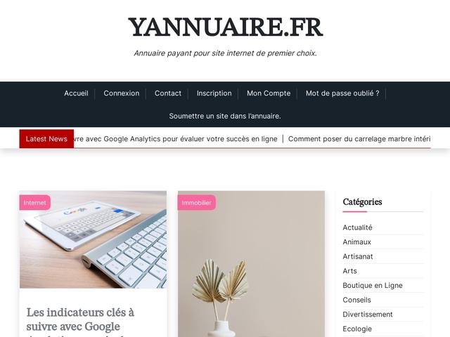 Yannuaire - Annuaire Internet Gratuit - Rubrique Tourisme