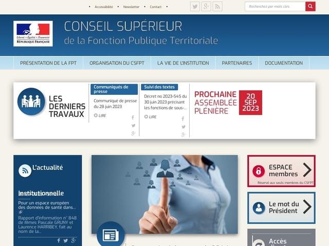 Conseil Supérieur de la Fonction Publique Territorial