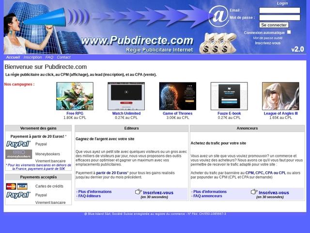 Pubdirecte - Régie publicitaire internet au cp..